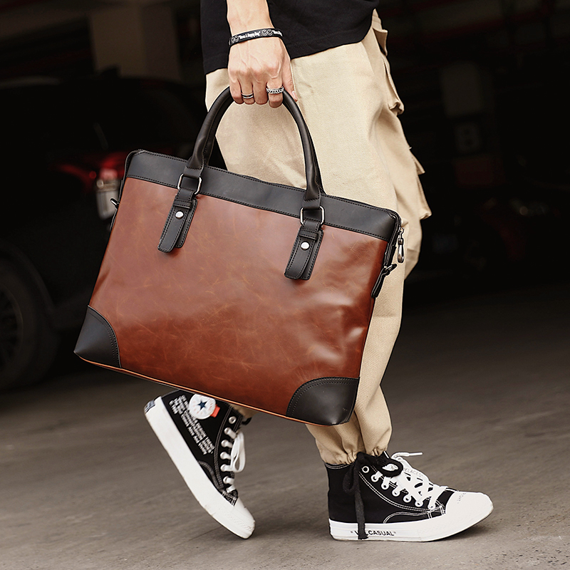 Vintage Fashion Casual Men Bag Korean Style Shoulder Messenger Bags Men Leather Handbags 14