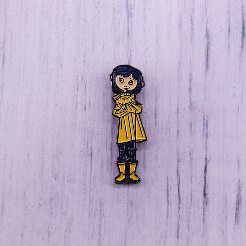 Coraline enamel pin Thriller movie brooch Henry Selick pin image