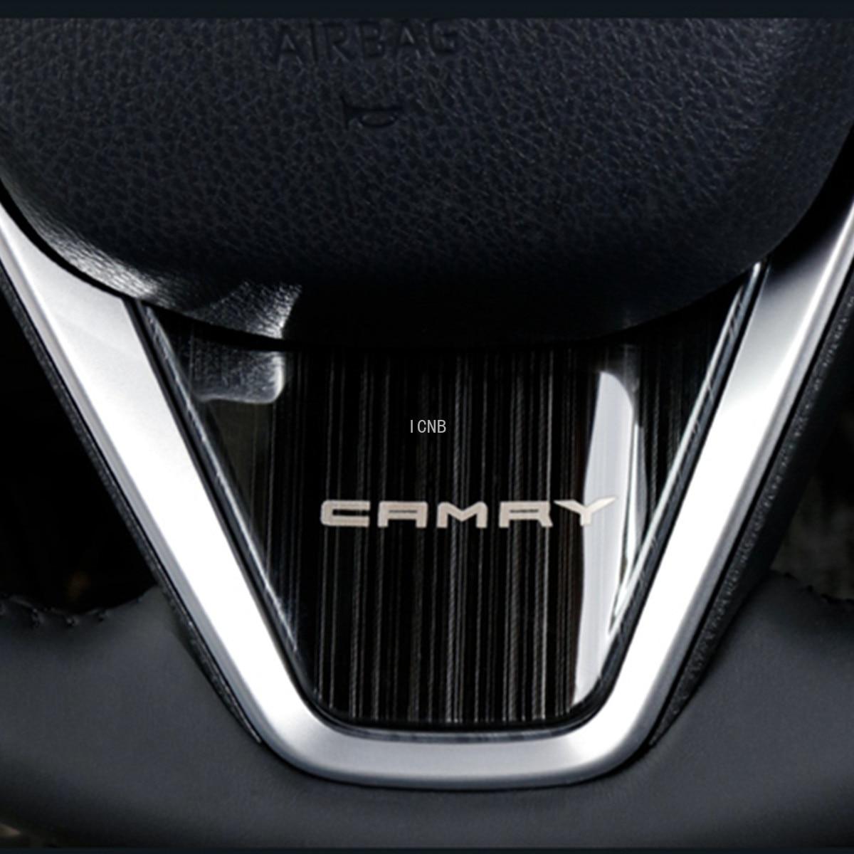 Rvs Stuurwiel Decoratieve Sticker Voor Toyota Camry 2018 2019 8th