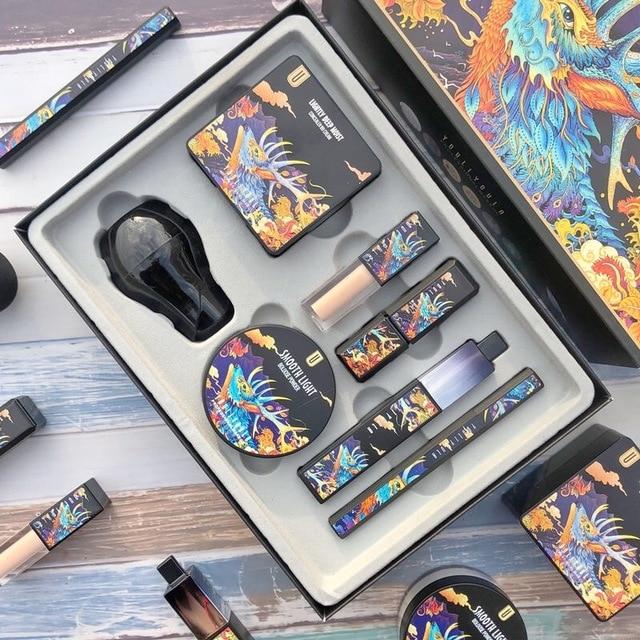 7 unids/set maquillaje juegos incluyen uso diario del polvo de cara Fundación corrector Lápiz Delineador de ojos maquillaje cosmético de la caja de regalo 2