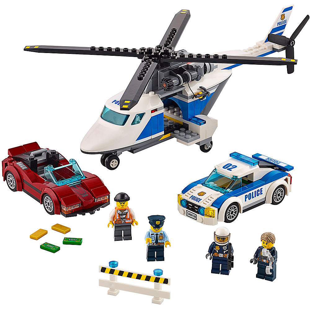 Bricks High-speed Chase City Police 60138 Building Blocks Model Toys For Childrens Kid Gift 318Pcs