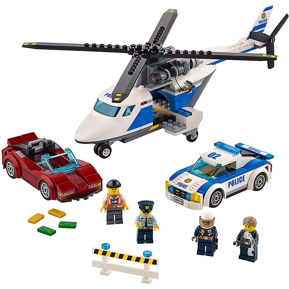 Bricks High-speed Chase City Police 60138 Building Blocks Model Toys For Childrens Kid Gift 318Pcs