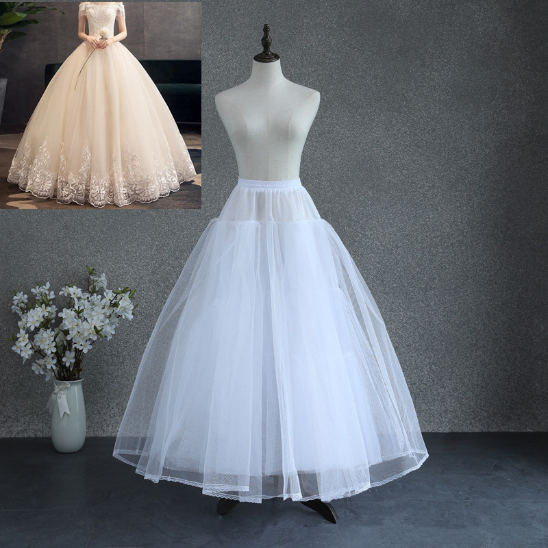 Long Bridal Petticoat Crinoline Underskirt Wedding Prom Dress Hoop Lace Trim 8-Layer NO-Bone Comfortable Natural Petticoat Tutu