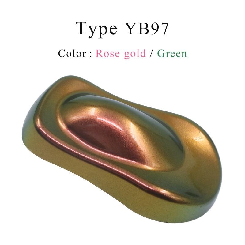 YB97 Chameleon Pigment Acrylic Paint Powder Coating Chameleon Markers Dye For Automotive Decoration Glass Craft Paints Nails 10g