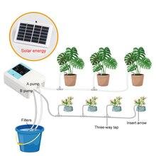 Новейшее интеллектуальное садовое автоматическое устройство орошения солнечной энергии зарядки водяной насос таймер системы горшечных растений капельного орошения