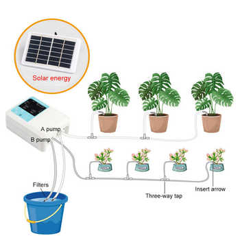 Newest Intelligent Garden Automatic Watering Device Solar Energy Charging Water Pump Timer System Potted Plant Drip Irrigation - Category 🛒 Home & Garden