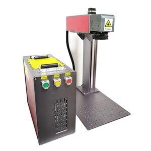 Image 5 - 送料無料オートフォーカス 30 ワットスプリットファイバーレーザーマーキングマシンレーザー彫刻機械銘板レーザーマーキングステンレス鋼