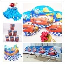 52pcs Disney Party Supplies Tableware Set Cartoon Cars Lightning McQueen Kids Birthday Decoration Baby Shower Decor