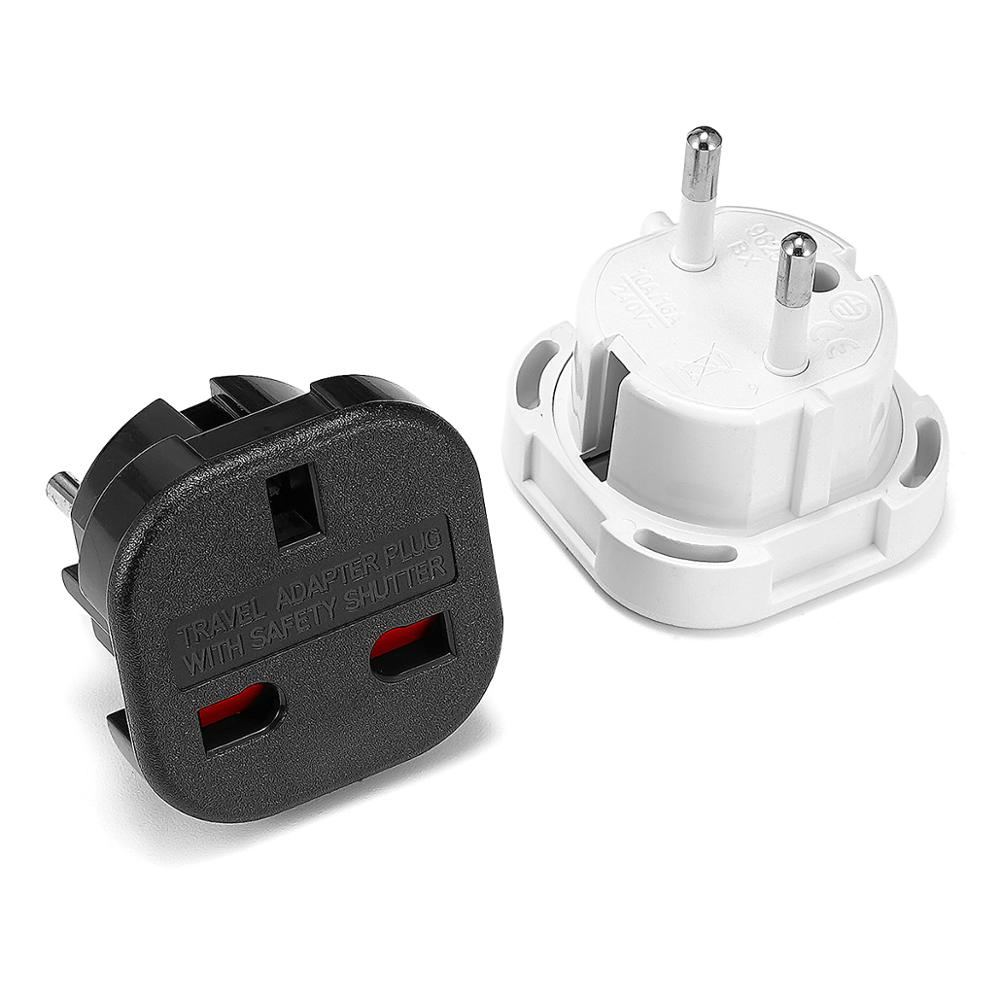 1pc Universal UK To EU Plug Converter 250V AC Power Adapter Charger Euro Travel Adapter EU Plug Adapter British Scoket Outlet