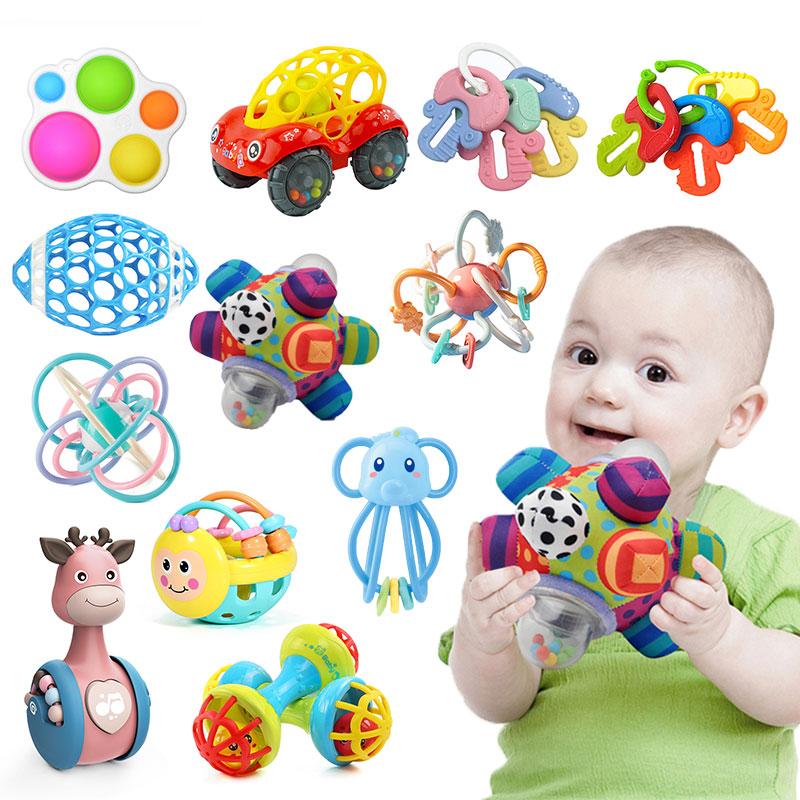 Игрушки для маленьких детей на возраст от 0 до 12 месяцев, понять развивать детские погремушки безопасный зубов для новорожденных и детей, иг...
