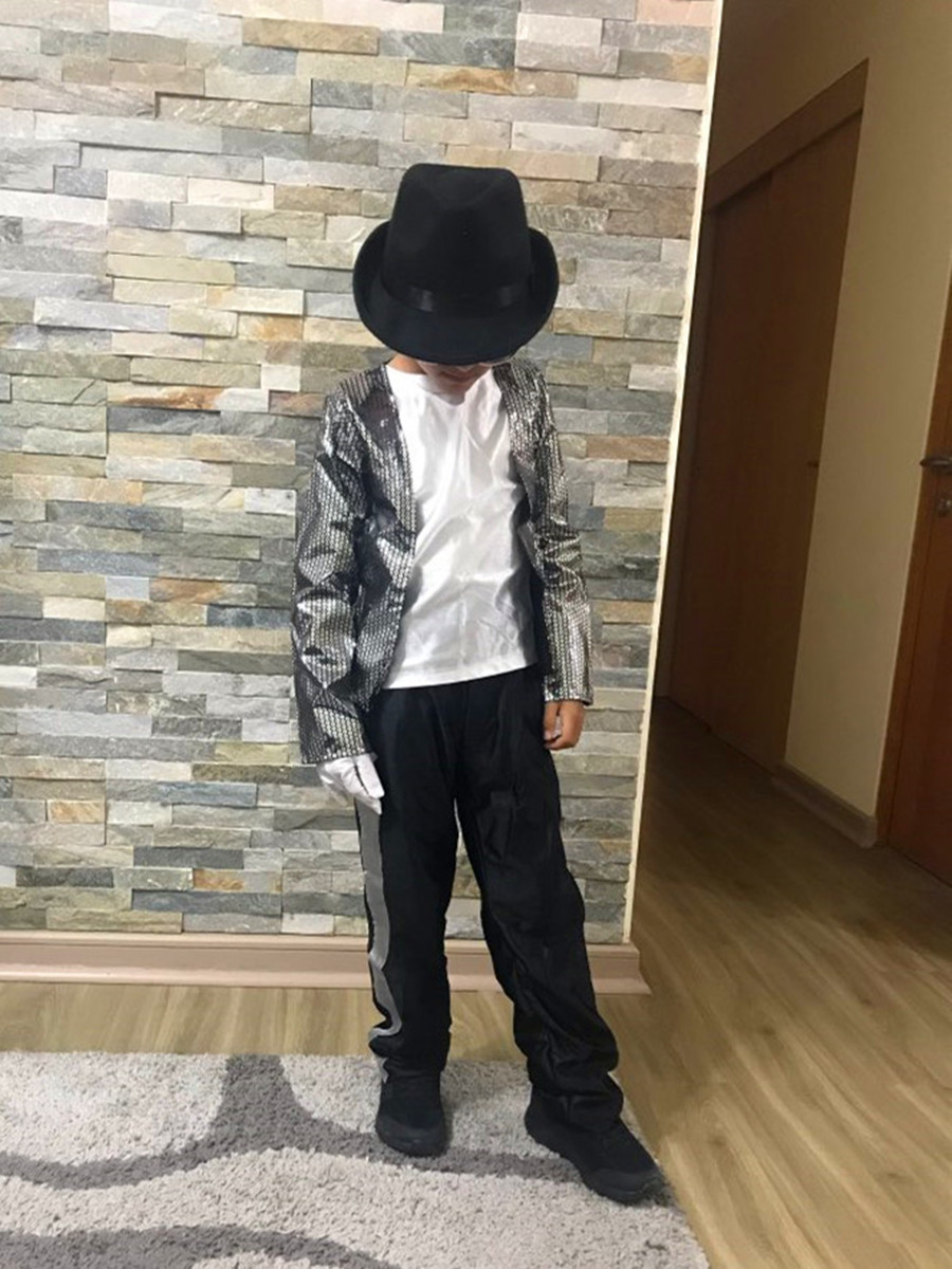 Image 3 - Halloween Michael Jackson Cosplay Costume Superstar Singer Dance Suits Christmas New Year Party Dress
