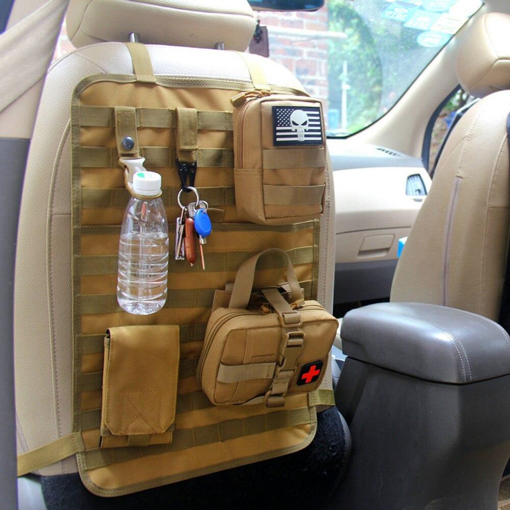 Molle organizatör klozet kapağı çantası çok fonksiyonlu araba koltuğu sırt çantası 1000D açık avcılık cepler taktik aksesuarları çanta