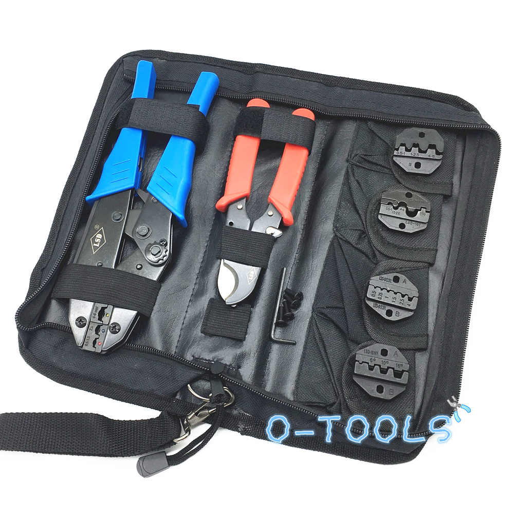 Crimping Tools Hand Tool Set For Crimp Terminals And Connector With Cable Cutter Pliers Replaceable Dies LS-K03C,multi Tool Kits