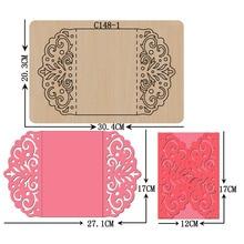 Nowa karta, koperta, zaproszenie, ślub, DIY drewniane die Scrapbooking C 148 1 wykrojniki