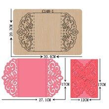 새 카드, 봉투, 초대장, 결혼식, diy 나무 죽을 scrapbooking C 148 1 절단