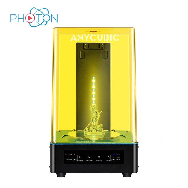 Sèche linge anycubique pour Mars Photon photon s 2 en 1 Machine à laver à polymériser pour LCD SLA DLP imprimante 3d modèle de résine UV