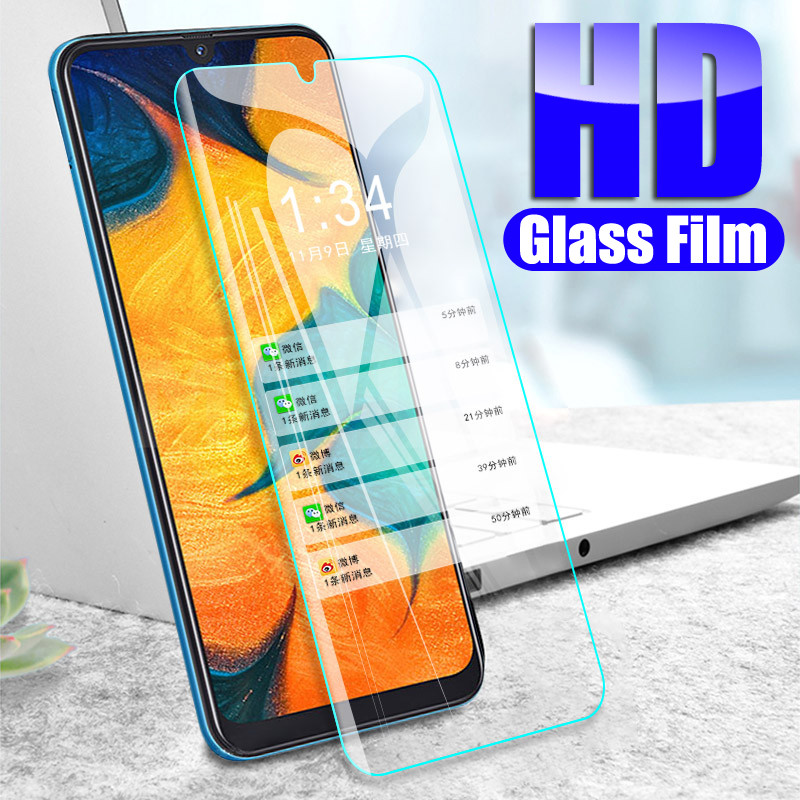 9H Tempered Glass For Samsung Galaxy A10 A30 A50 Screen Protector Film On A20 A40 A60 A70 A80 A90 Protective Glass Film Case