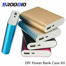Power Bank Case 4*18650 Mobile Phone Charger Box DIY Kit USB 18650 Power Charging battery Storage Shell For xiaomi цена