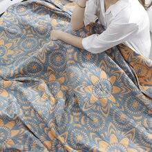 Super king tamanho 230x250cm algodão gaze toalha cobertor macio bebê crianças consolador xadrez no sofá de cama