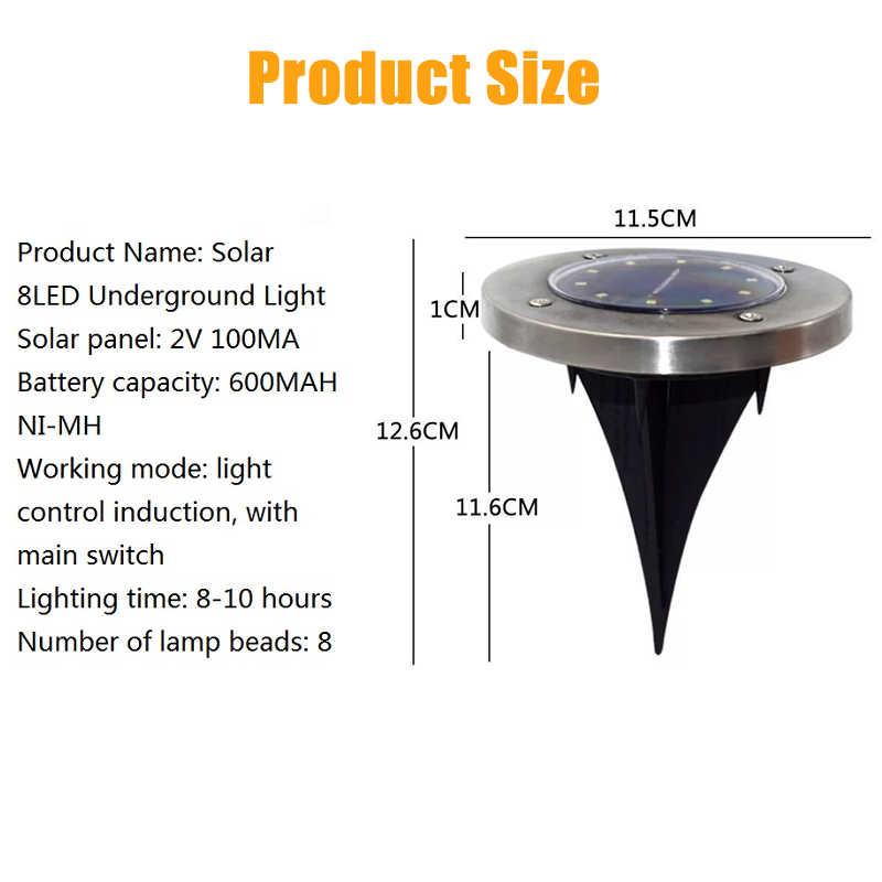 LED Solar Rasen Lampe Solar Power Begraben Licht Unter Boden Lampe Outdoor Pfad Weg Garten Decking Licht Weiß Warm Weiß
