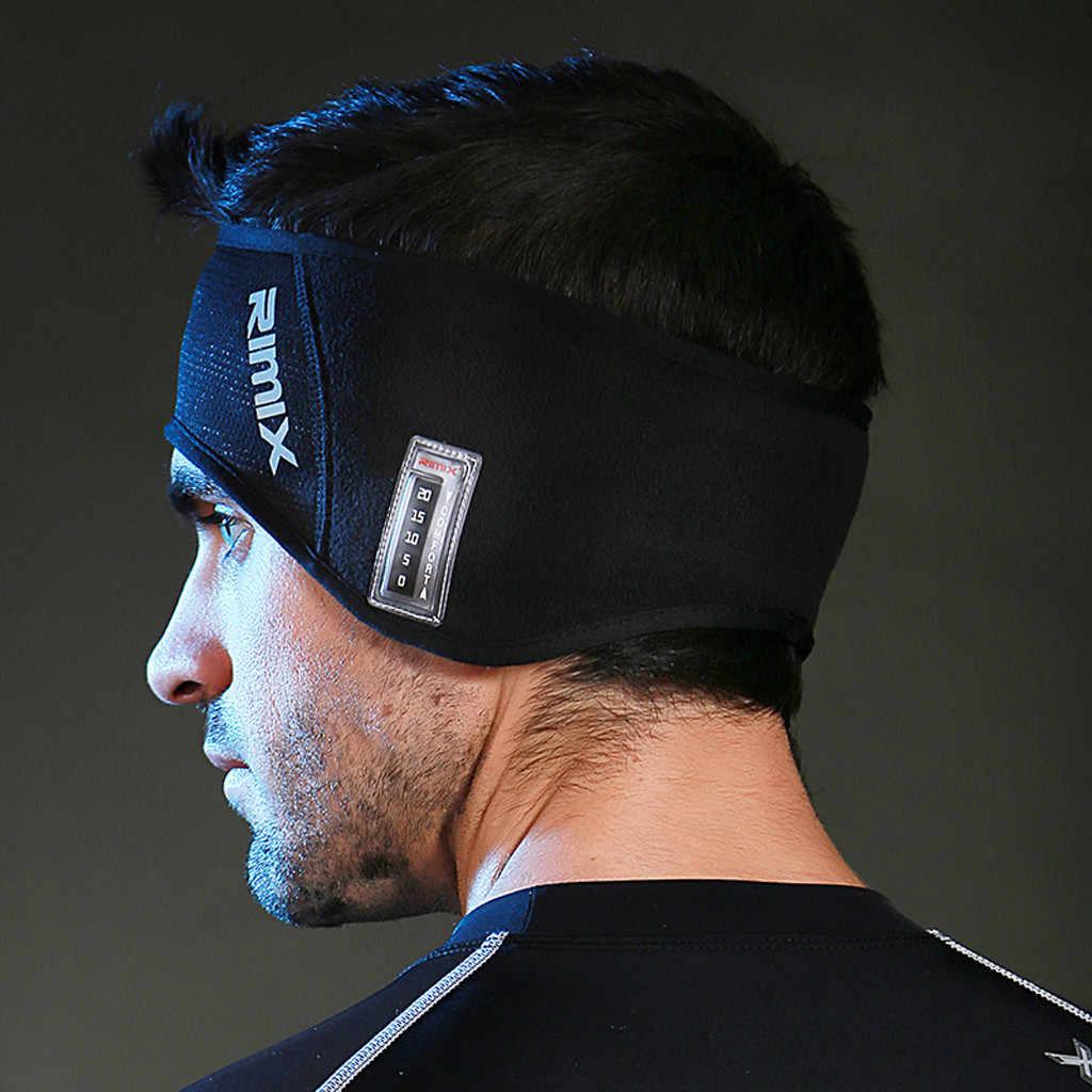 Mężczyzna kobiet opaska sportowa do biegania z pałąkiem na głowę mężczyźni pot taśma ochronna do deskorolki sportowa opaska na głowę opaska na głowę sport z nauszniki # H