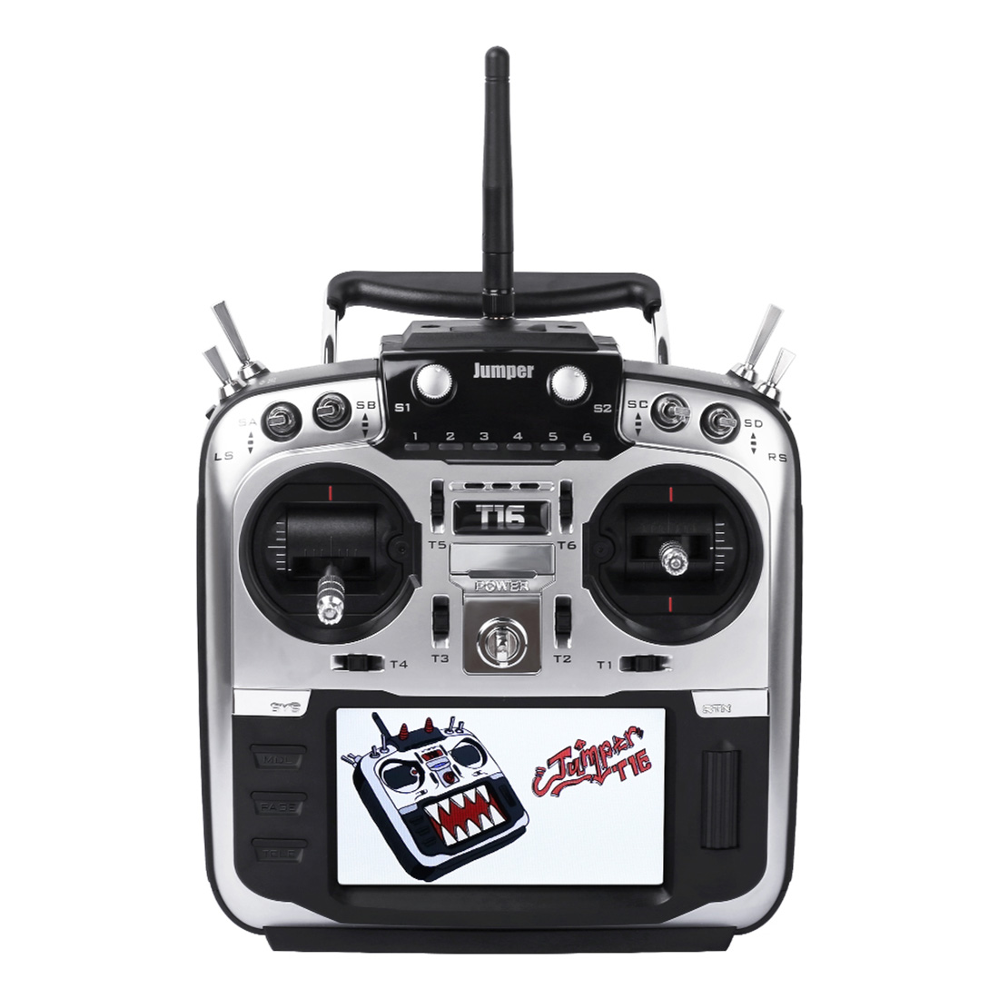 Jumper-XYZ T16 Pro Hall Gimbal Open Source Multi-protocol Radio Transmitter JP4-in-1 RF Module 2.4G 16CH 4.3