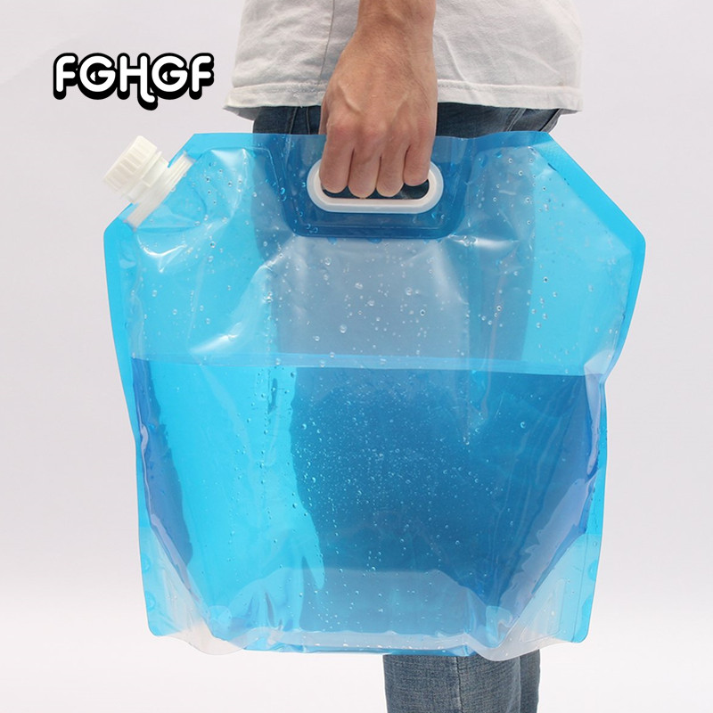 Outdoor 10L Folding Camping Emergency Survival Water Storage Carrier Bag Supply Emergency Kit Safety