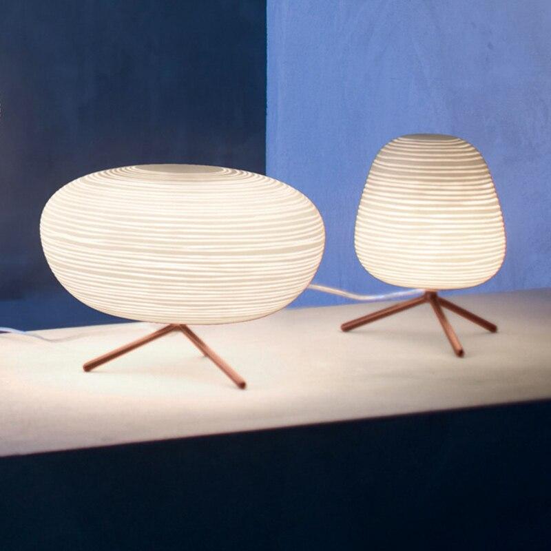 BSOD moderne nordique LED lumières lampe de Table E27 vis AC220V blanc chaud ou blanc pour étude chambre d'hôtel lampes éclairage - 4