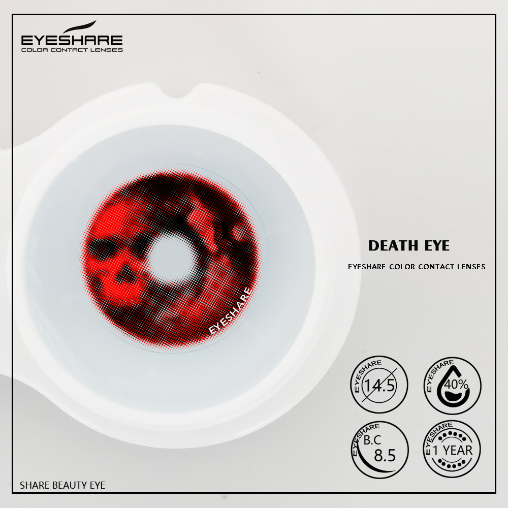 EYESHARE 1 Pair Eye of Death Cosplay scarLy Contact Lenses for eyes halloween Contacts Lenses Eye