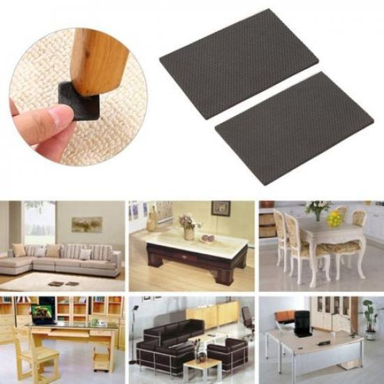 Self Adhesive Sticky Felt Pads Black Furniture Tabs Wood Floor Scratch Protector