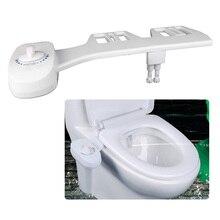 Двойные насадки, спрей для пресной воды, неэлектрическое механическое биде, сиденье для унитаза, насадка для самоочистки ABS DIY, простая установка