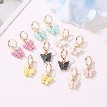 Новые женские серьги, модные цветные акриловые серьги-гвоздики с животными, милые Разноцветные серьги, ювелирные изделия для девочек