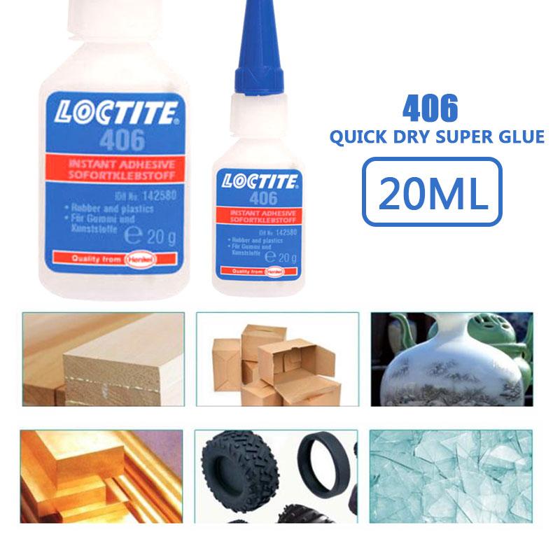Super Glue 406 Repairing Glue Instant Adhesive Loctite 401 Self-Adhesive 20ml