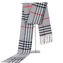 autumn and winter new business casual plaid men's scarf middle-aged cashmere scarf couple scarf giveaway
