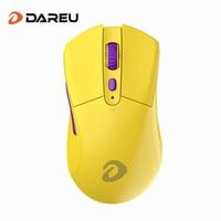 Dareu A918 PAW3335 Mouse da gioco Wireless ergonomico 6 Mouse ottici programmabili con sensore 16000 DPI per PC Windows Gamer