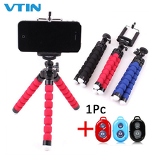 Universal Wireless Bluetooth Tripod Stand Remote Flexible Octopus Phone Camera Selfie Stick Mount Mobile Bracket