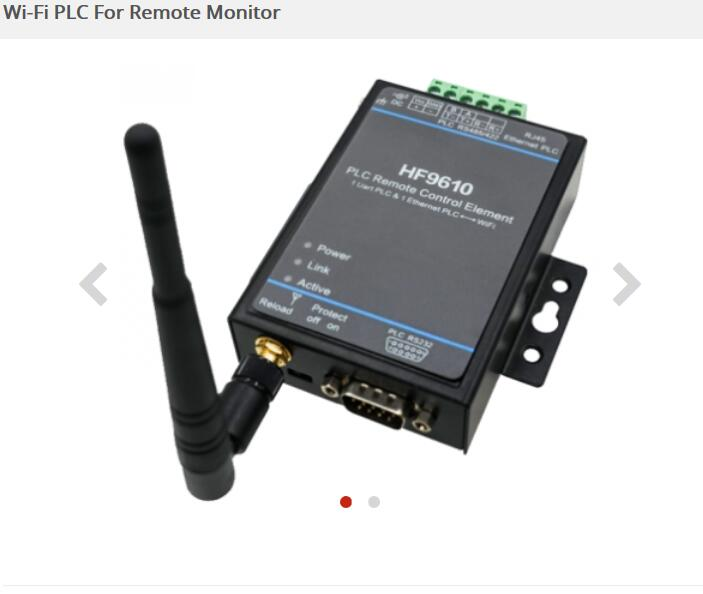 PLC Remote Control Download Monitoring Module Serial Port To Wifi Ethernet Unit Transparent Transmission Device HF-9610