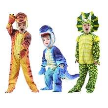 Disfraz de dinosaurio Triceratops para niños y niñas traje de Cosplay de pequeño t rex, Disfraces de Halloween, fiesta navideña