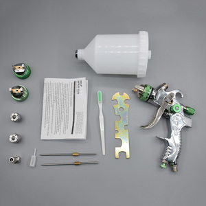 Image 5 - HVLP Spray Gun Set 1.4mm 1.7mm 2.0mm Airbrush 600ML Steel Nozzle Cars Painting Furnitures DIY Painting Kit Car Auto Repair Tool