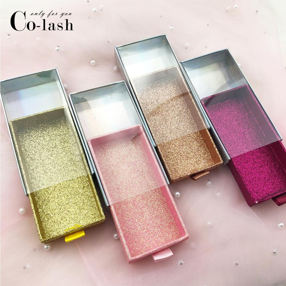Colash False Eyelash Drawer Packaging Box Custom Logo Fake 3d Mink Eyelashes Boxes Faux Cils Lash Strip Case Empty Box