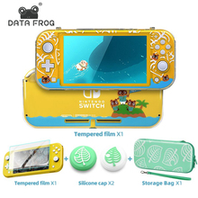 Data Frog Transparent Hard Cover For Nintendo Switch Lite Console Animal Protection Case for Switch Lite Console Accessories