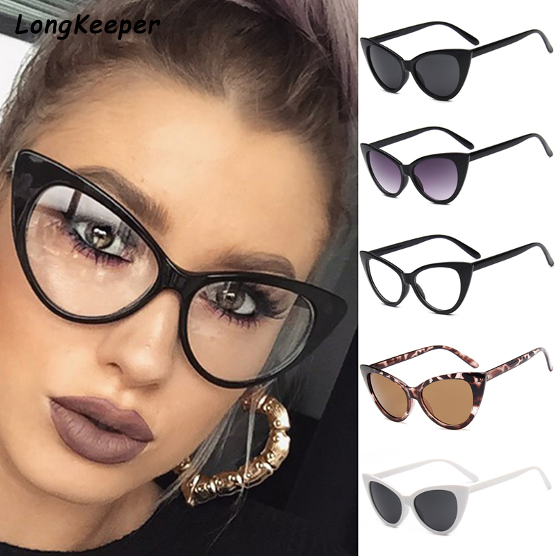 Women Cat Eye Sunglasses Vintage Brand Designer Sun Glasses Sexy Glasses Frame Lady Sun Glasses Oculo De Sol Shades Summer Style