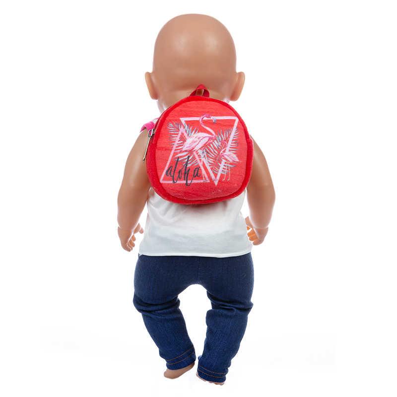 Gaya Baru Tas Boneka Aksesoris Sesuai 17 Inch 43Cm Boneka Reborn untuk Boneka Bayi Aksesoris untuk Bayi Ulang Tahun Festival hadiah