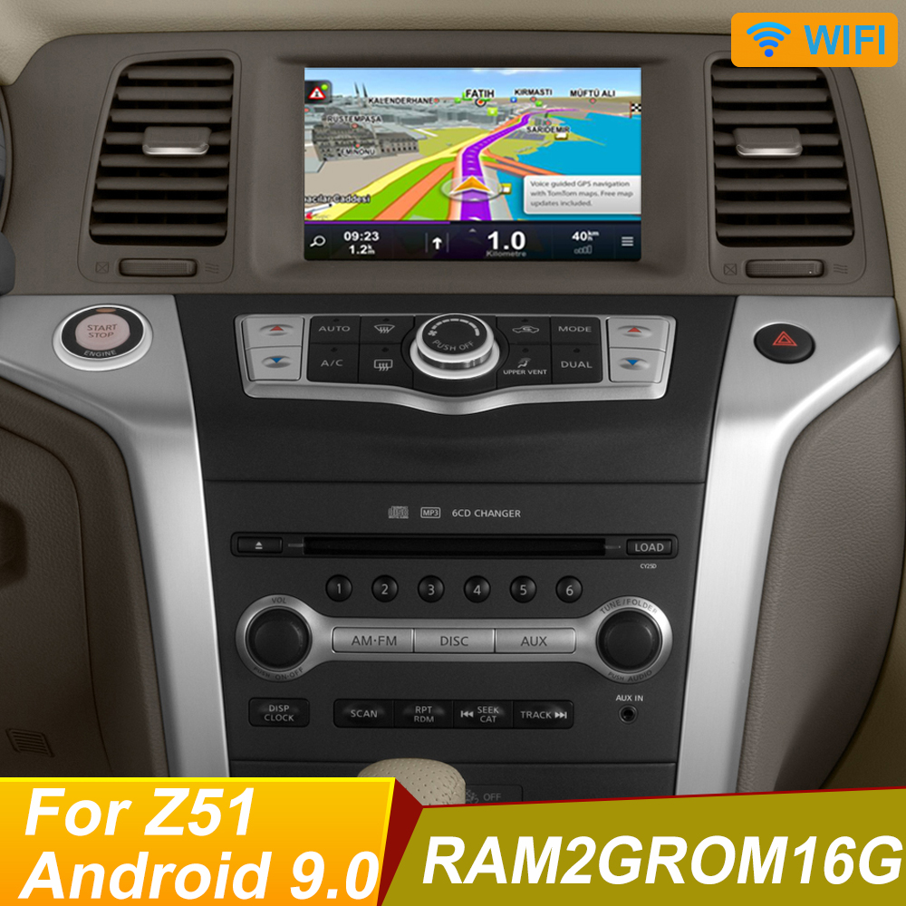 Quad core android 9.0 Car Dvd Player For NISSAN Murano Z51 GPS Navigation Stereo BT AUX image