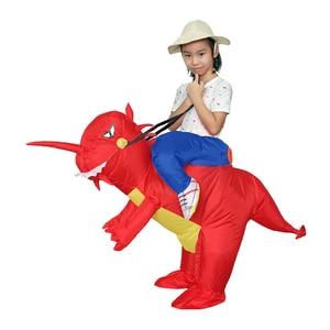 Image 4 - Надувной детский костюм Purim на Хэллоуин, вечеривечерние, динозавр, единорог, Женский костюм на Хэллоуин, Детский костюм для катания