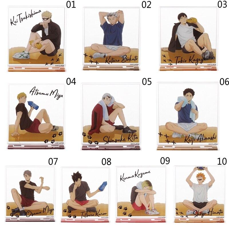 1pc 14cm japão anime haikyuu! Cosplay figura de suporte de mesa de acrílico modelo placa decoração figura ação pingente brinquedo presente