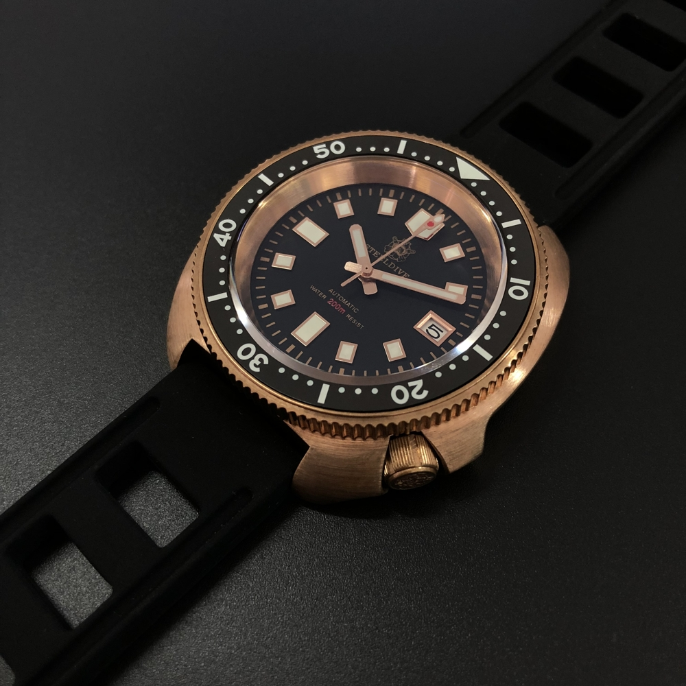 SD1970S Steeldive New Arrival 2020 CUSN8 Bronze Case Ceramic Bezel Blue Luminous NH35 Automatic Dive Watch For Men