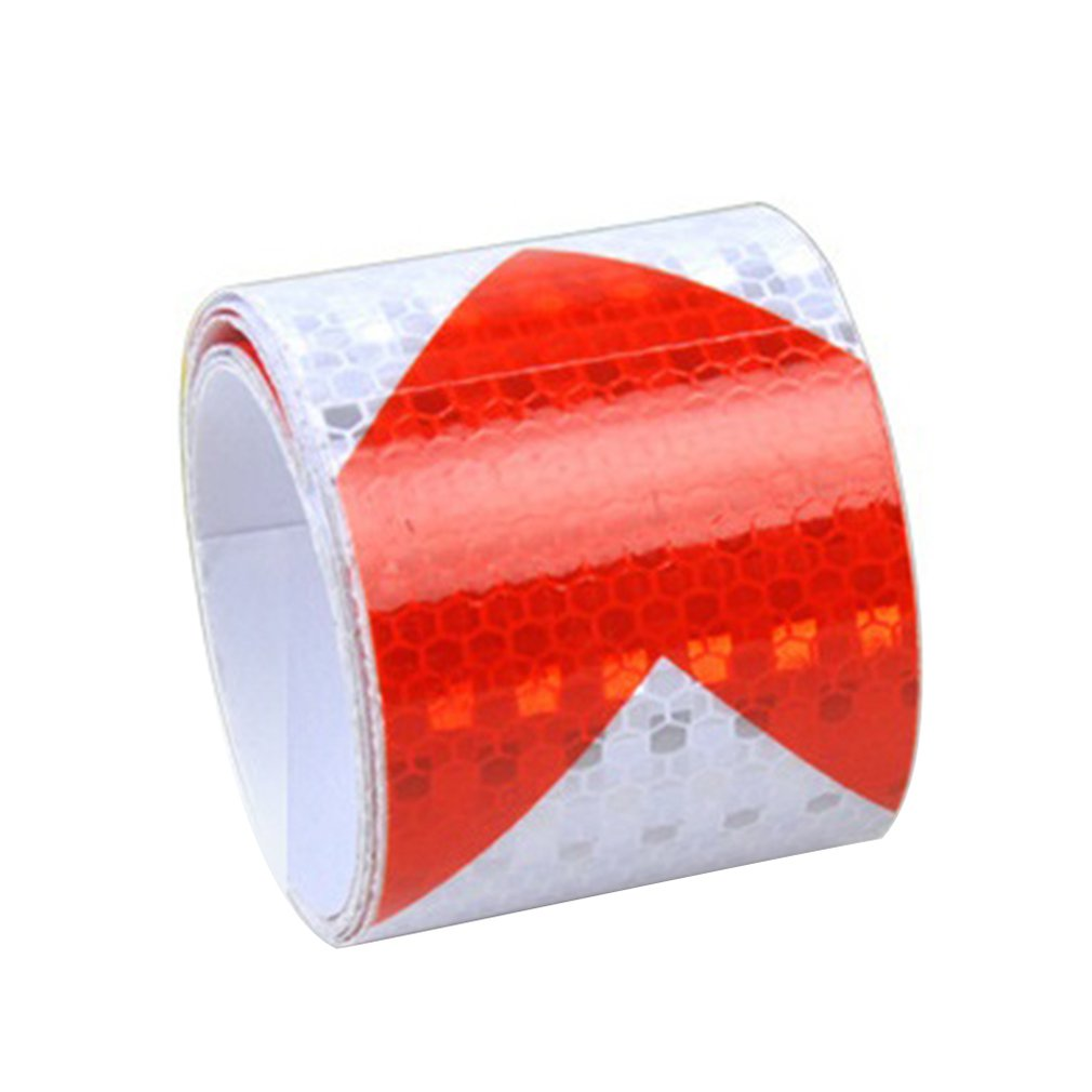5CM Width Long Self-adhesive PVC Reflective Safety Warning Tape Road Traffic Construction Site Reflective Arrow.