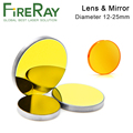 FireRay CO2 ZnSe Focus Lens Dia.18 19.05 20mm 3Pcs Si Reflective Mirror or Mo Mirror for Co2 Laser Engraving and Cutting Machine