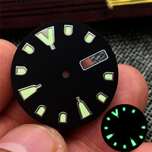 28.5mm Watch Dial Ring with Super C3 Luminous for NH36 Movement Watch Accessories
